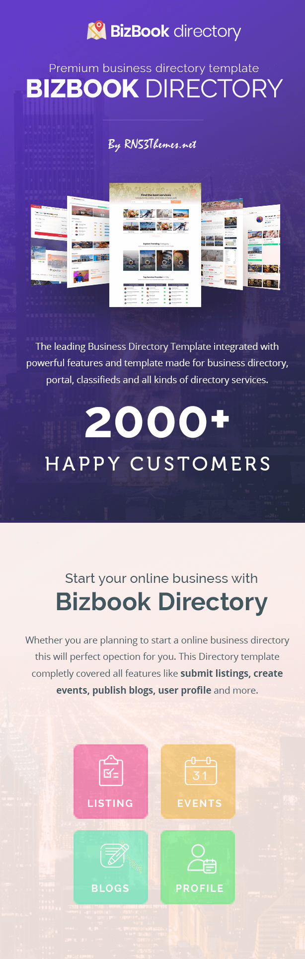 BizBook - Directory & Listings Template - 1